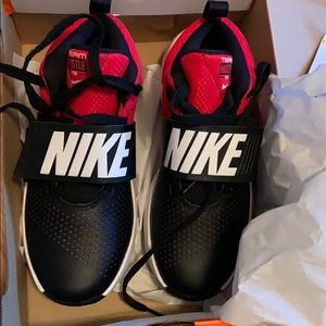 Black red Nike shoes